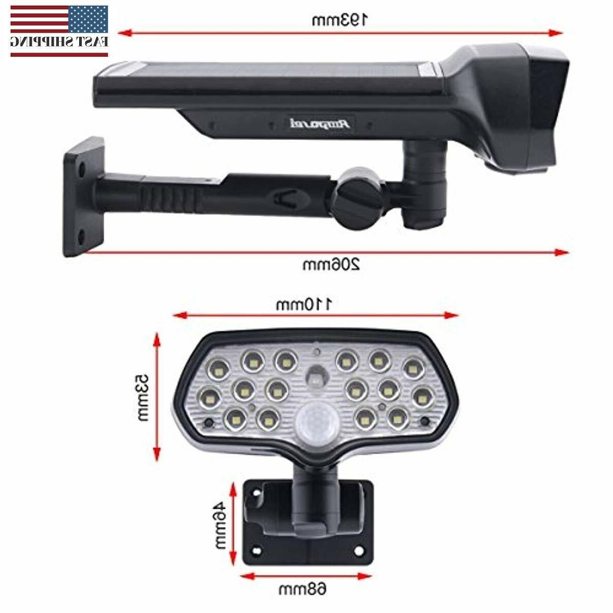 16 LED Outdoor Landscape Spotlights Sensor