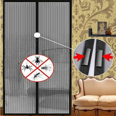 Mosquito Door Net Mesh Screen Hands Free Magnets Anti Fly Bu