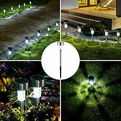 16 Pack Solar Lights Outdoor, Garden Led Landscape/Pathway (Stainless