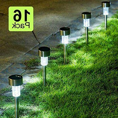 16 Pack Path Lights Led Landscape/Pathway (Stainless