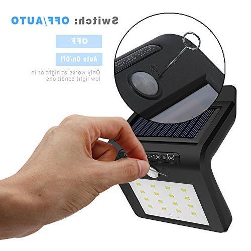 16LED Solar Light,Outdoor Wireless Solar Powered PIR Motion Sensor Lamp for Garden, and Pathway