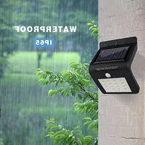 16LED Wireless Solar Powered PIR Sensor Security Wall Light Lamp Garden, and Pathway