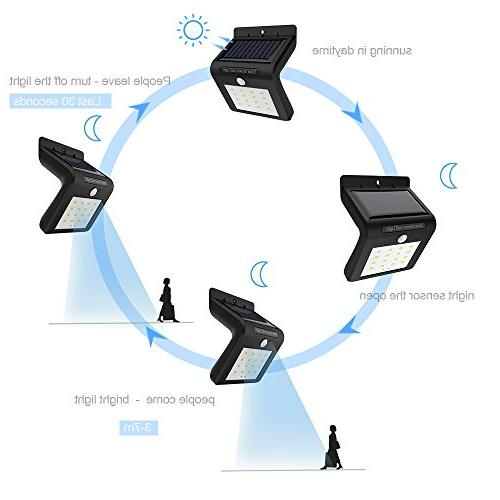 16LED Solar Powered Sensor Security Wall Lamp for and