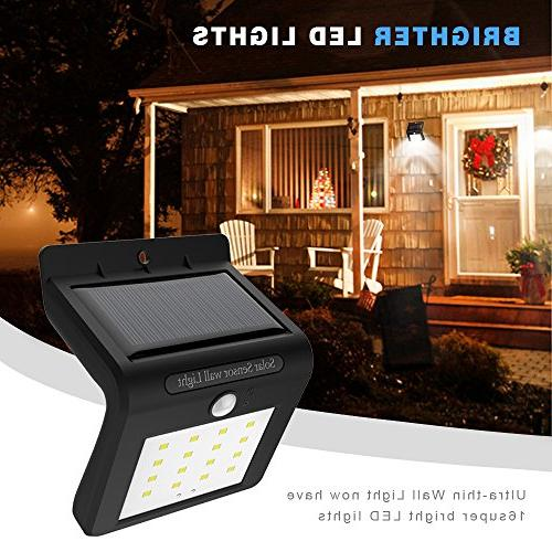 Solar Powered Sensor Wall Lamp for Garden, and Pathway