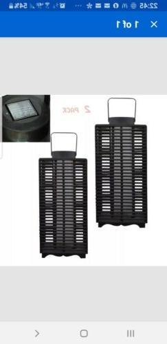 "Hampton Bay 18"" Solar Battery Powered Black Outdoor LED Resi"