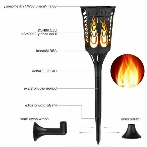 96LED Solar Tiki Torch Flame 10 MA