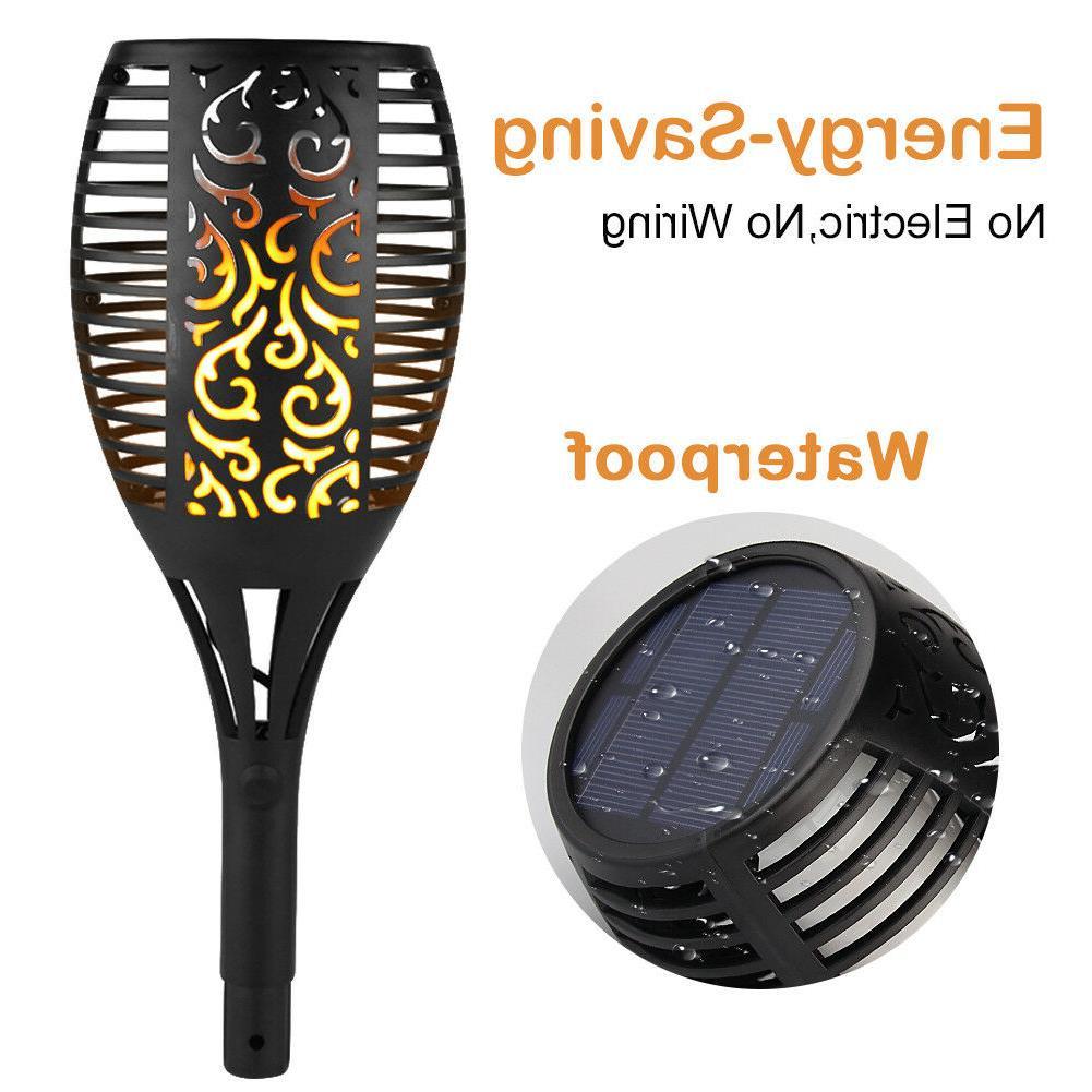 2-4 Pack Solar Lights 96 LED Flickering Lamp