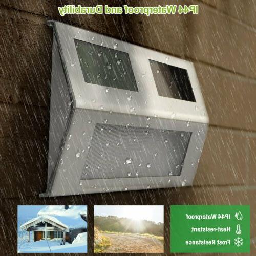 2/6/10 Solar LED Stainless Steel Garden Patio Step Stair Dec