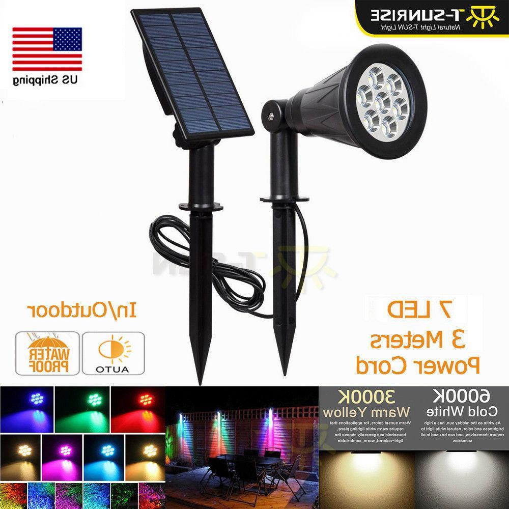 2 choose solar power led spot lights
