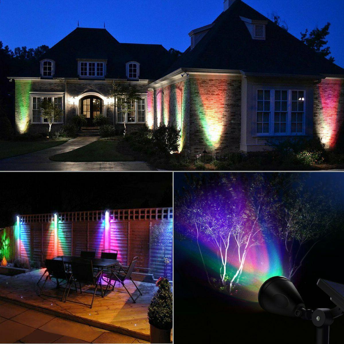 AMIR 2 4 Solar Spotlights Garden Outdoor