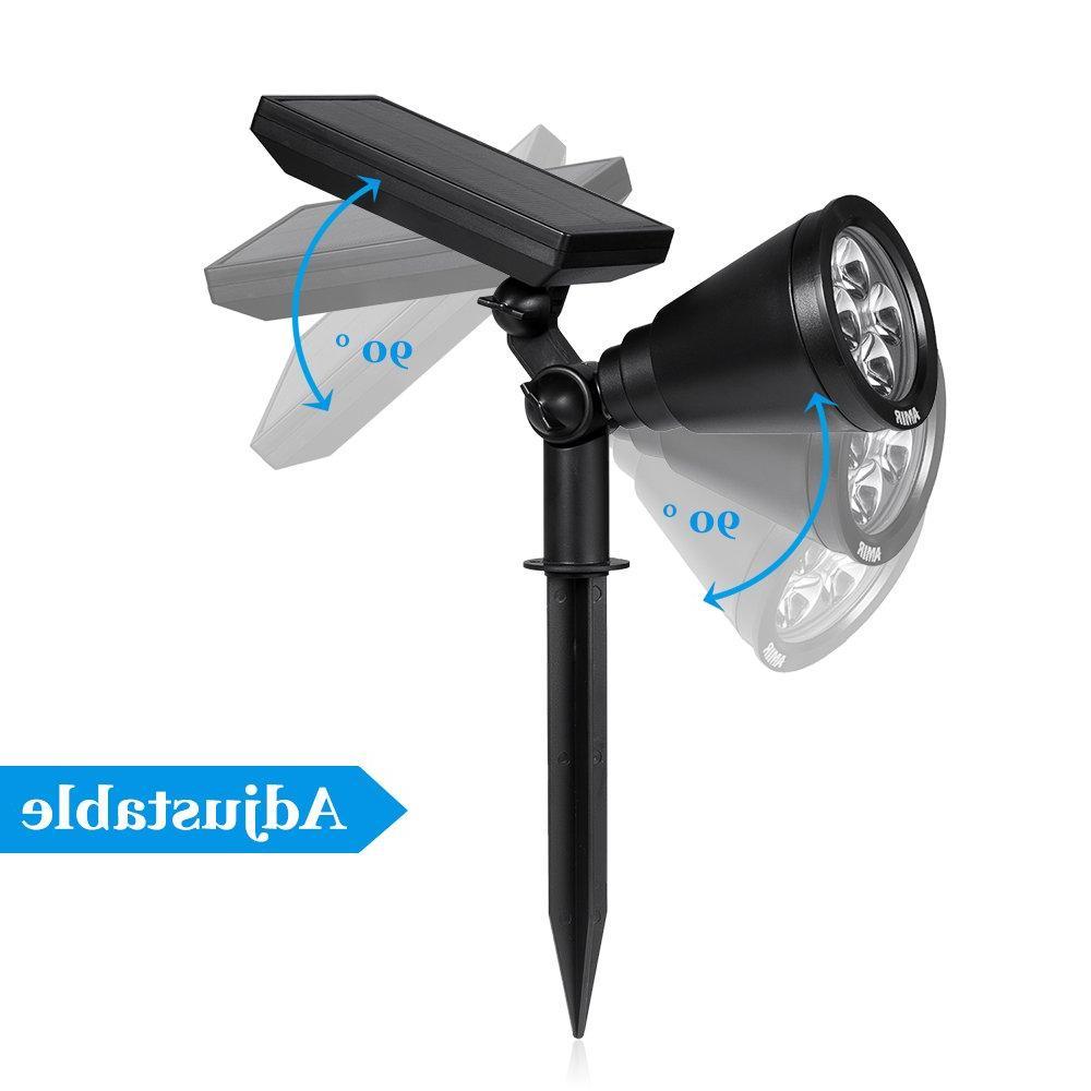 AMIR Solar Spotlights,Adjustable Garden Lights Outdoor,new