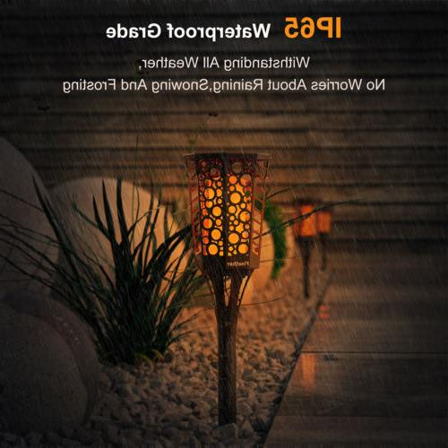 2 Pack Garden Tiki Light Dancing Flickering Lamps