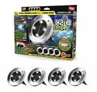 2 Pack Bell + Howell Disk Lights Solar Powered LED Outdoor L
