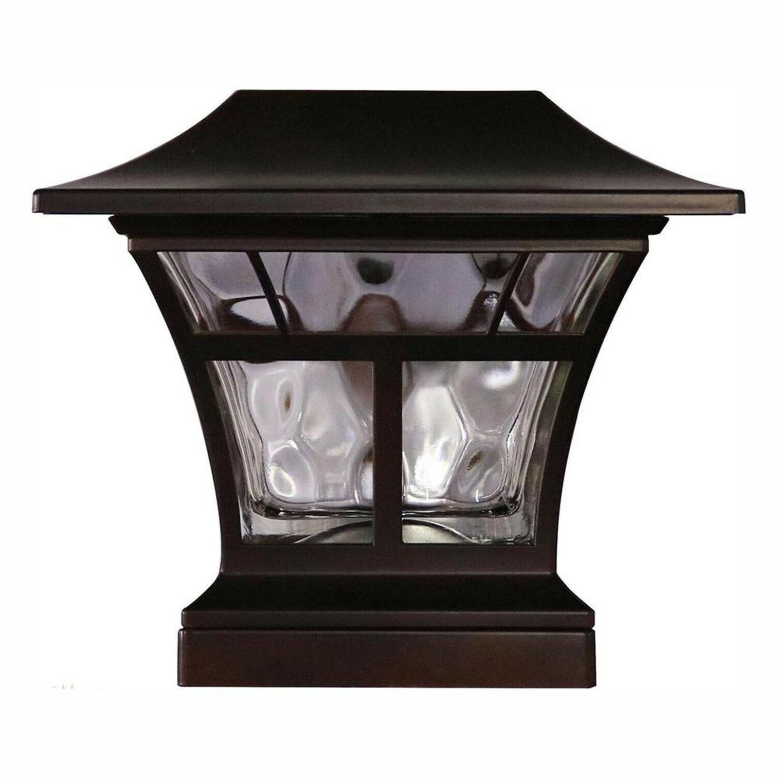"2-PACK BRONZE DECK POST 4""x4"" 6""x6"" Outdoor Garden Lighting"