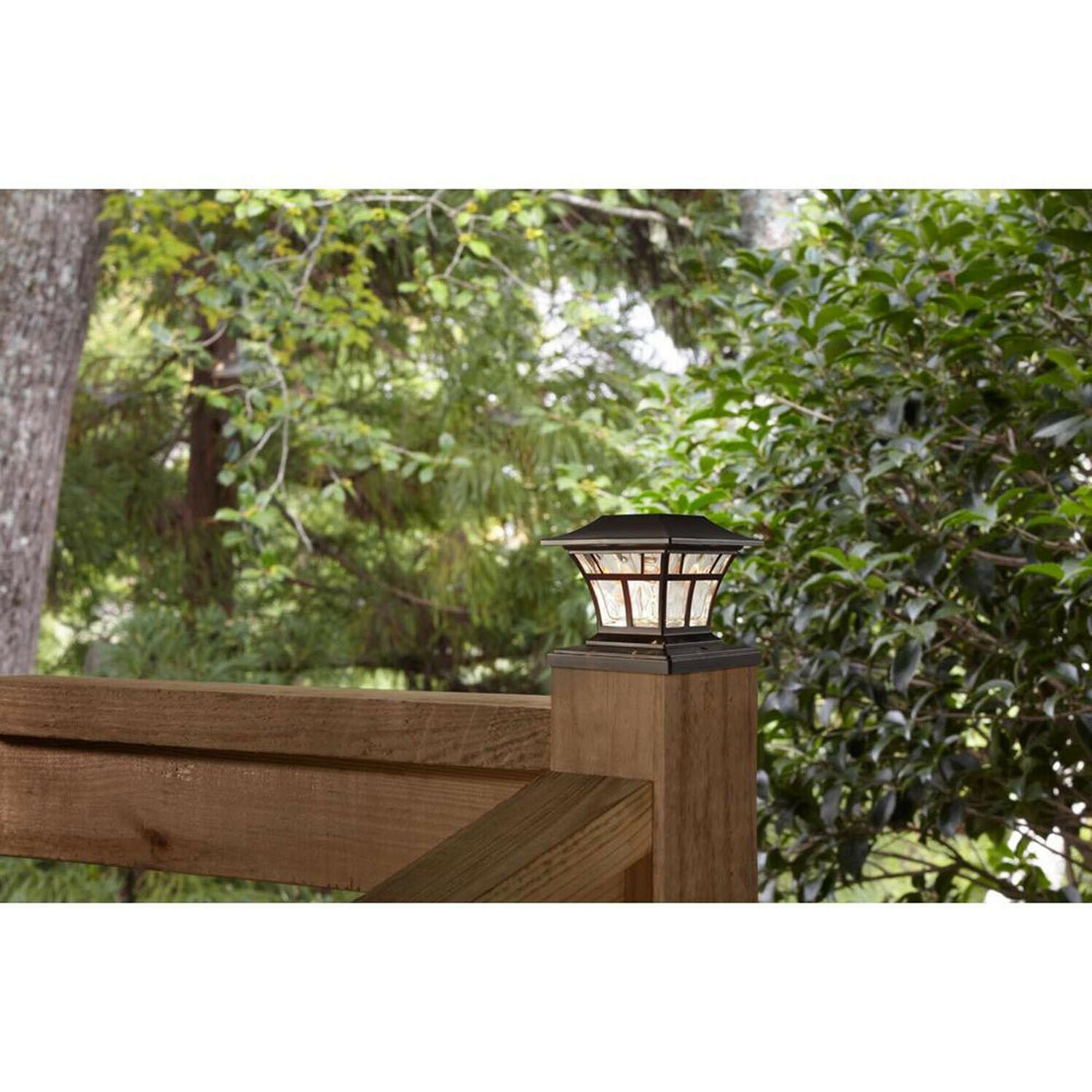 "2-PACK BRONZE DECK POST CAP 4""x4"" Lighting"