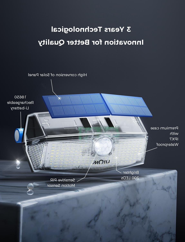 2 200 LEDs <font><b>Lights</b></font> <font><b>LITOM</b></font> CD210 Wall with Head Sensor Lamp