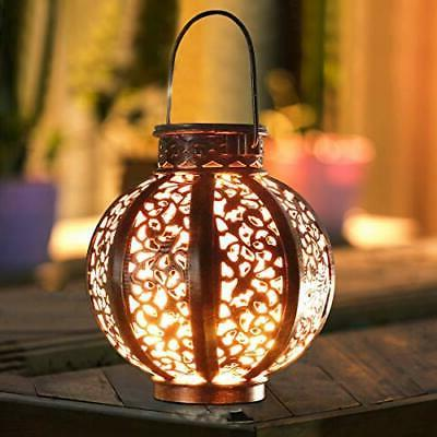 MAGGIFT Pack Hanging Solar Lights with Brown