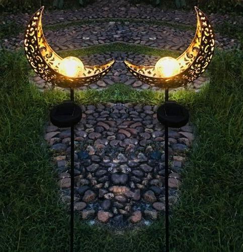 2 PK Outdoor Power LED Garden Yard Lamp Waterproof