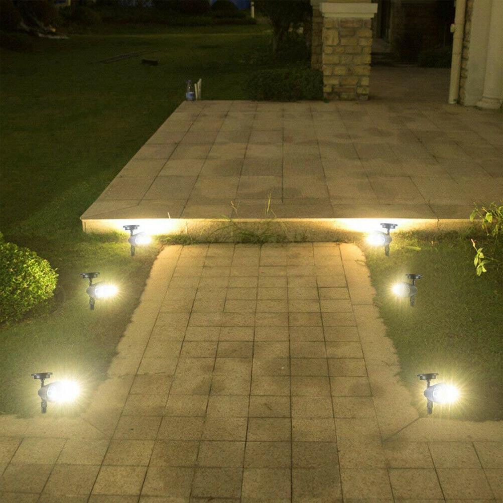 2 Pack 4 LED Spot Garden Flood Lamp Waterproof