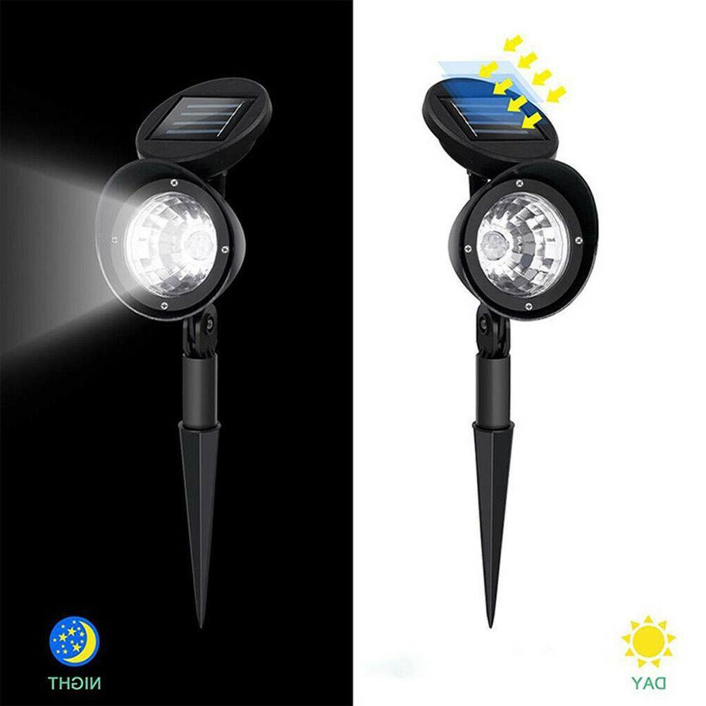 2 Pack Solar 4 LED Garden Landscape Lamp Waterproof