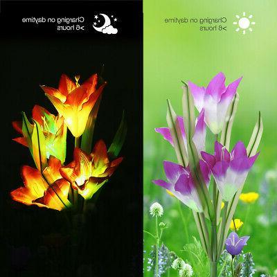 2 Lights Outdoor Flowers