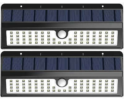 2 pack solar lights 62 led motion