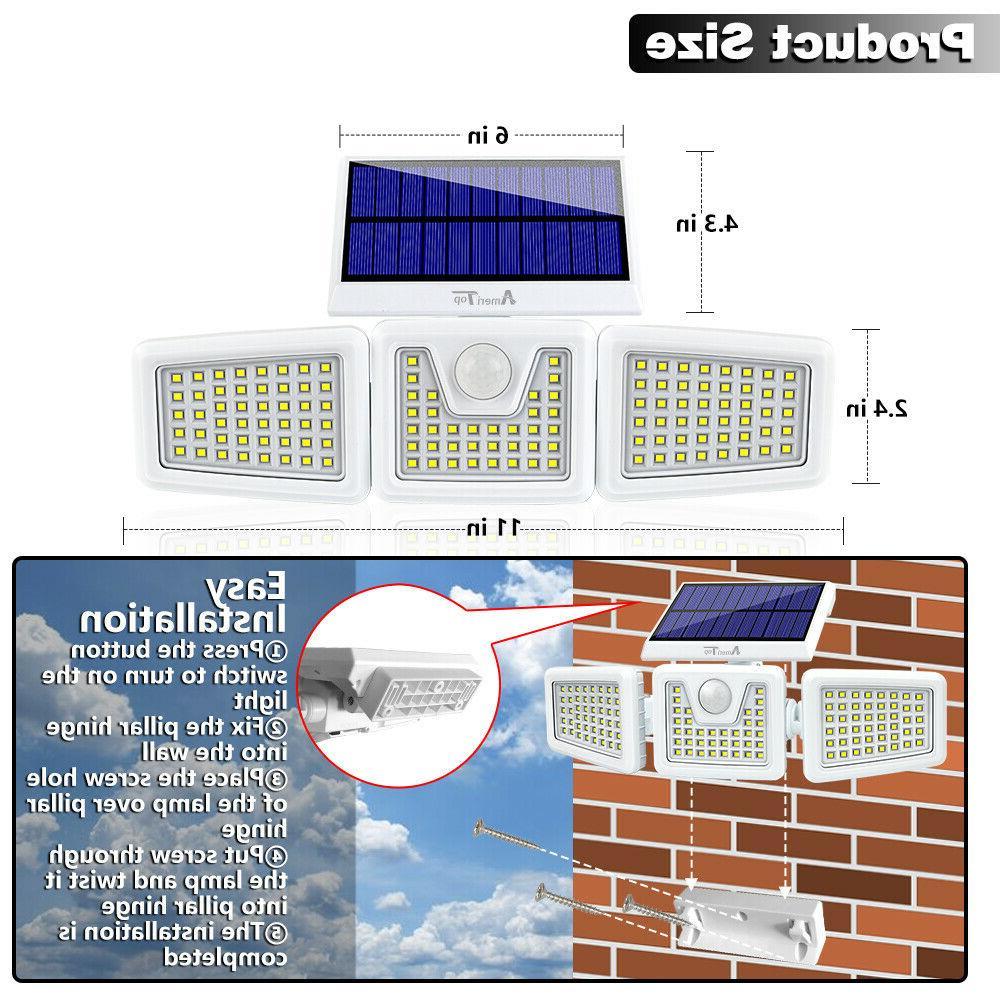 2 Solar Lights Motion Security Waterproof