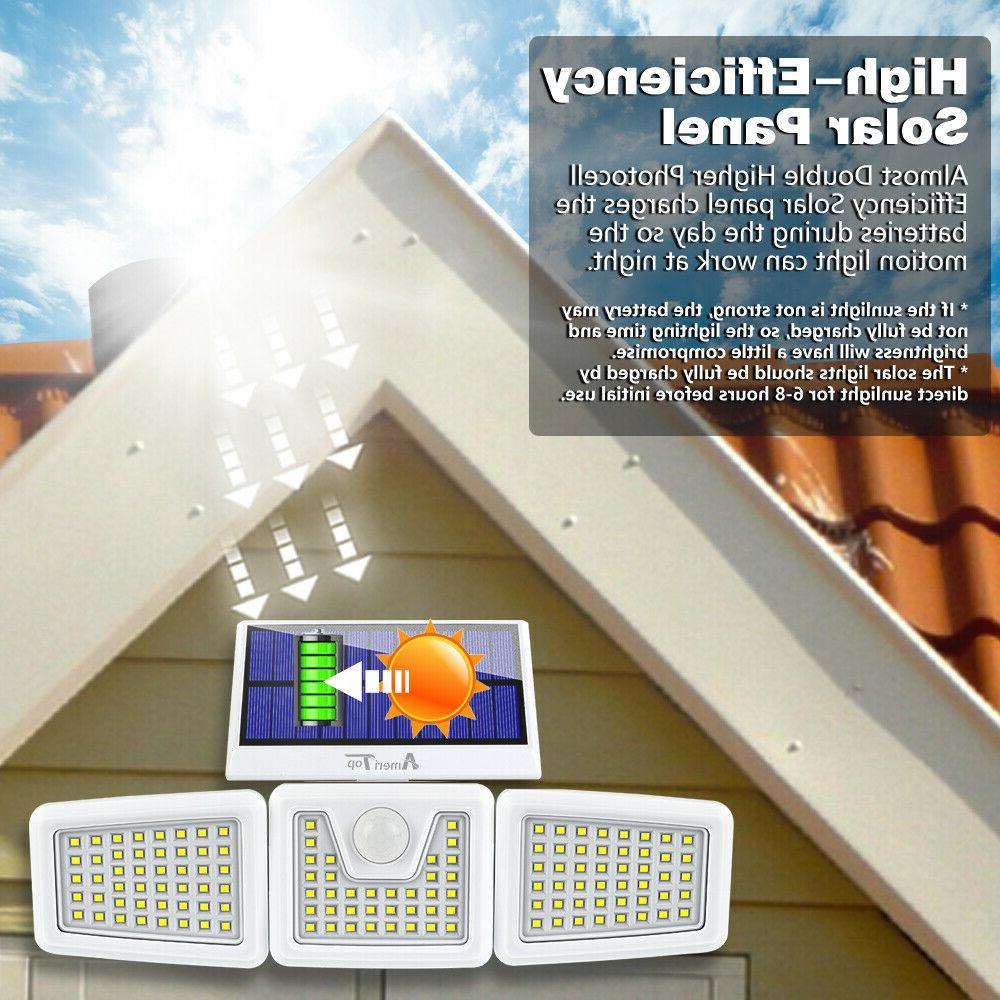 2 Solar Motion Sensor, Security LED Waterproof