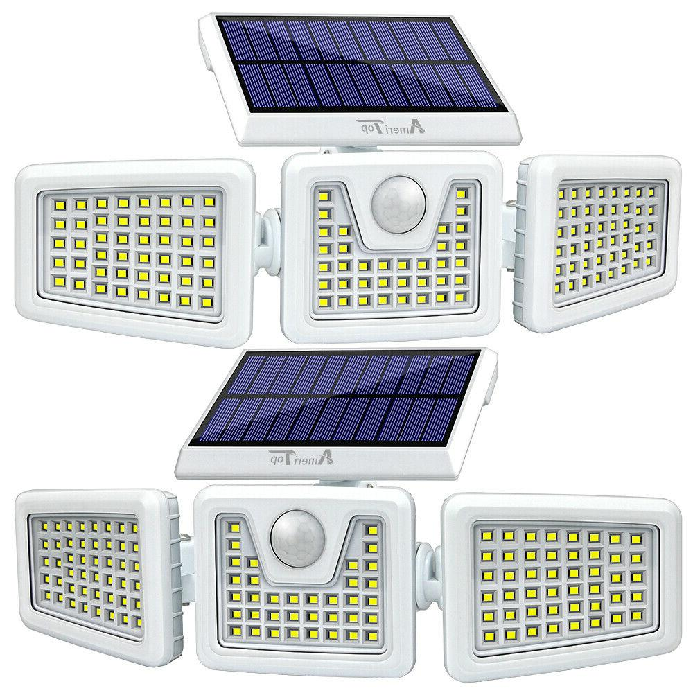 2 pack solar lights motion sensor security