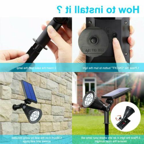 2 4 LED Waterproof Outdoor Security Path Wall Lamps