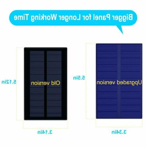 2 Pack Solar 4 Waterproof Wall Lamps