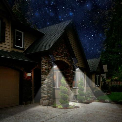 2 Power 4 LED Waterproof Outdoor Security Wall Lamps
