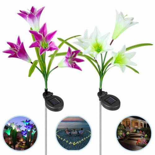 2 Pack Lily Flower Garden Yard Outdoor Deco