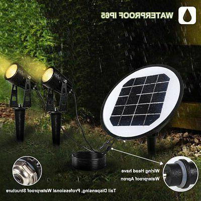 2 Pack Solar ProGreen Adjustable LED Outdoor Solar