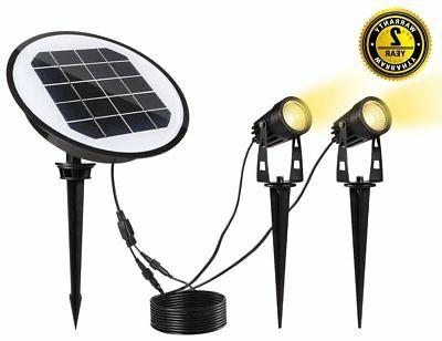 2 pack solar spotlights progreen waterproof adjustable