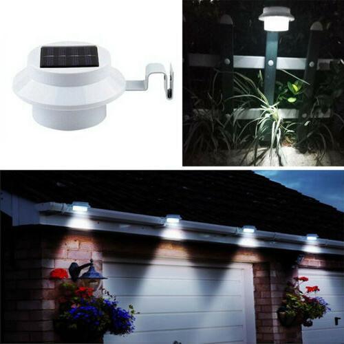 2 Solar Gutter Garden White