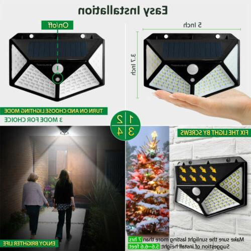 2 Lights Wireless Sensor Yard Garden Lamp