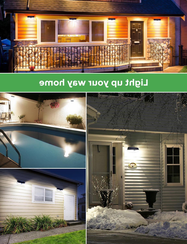 2 <font><b>Solar</b></font> LEDs Sensor Lamp IPX7 Waterproof 270° Garden