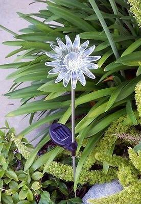 2 pc outdoor solar garden sun flower