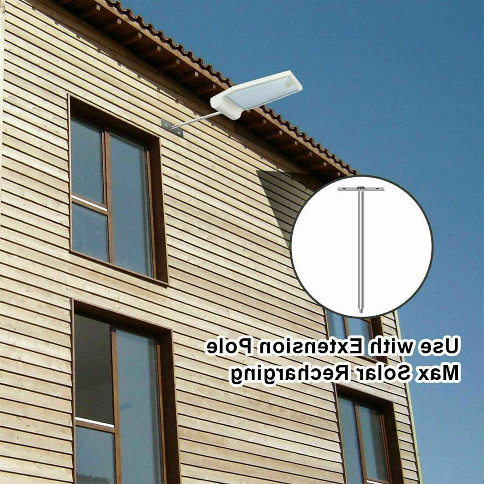 2 Pcs Solar Gutter Lights  Led Street Wall Pole Outdoor Wate