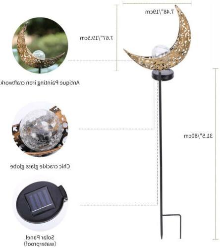 2 Outdoor Power Garden Moon Lamp