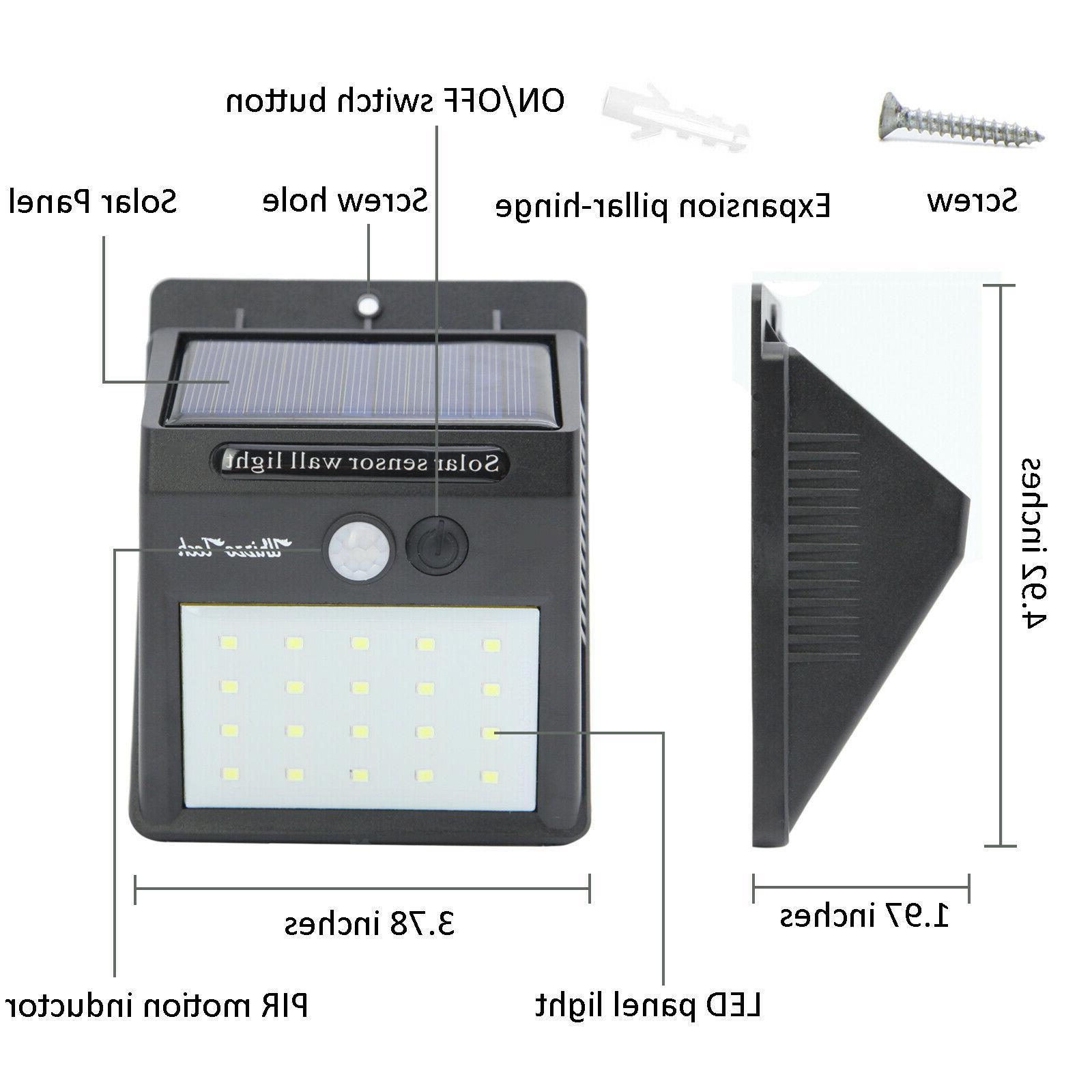 20/34/55LED Motion Sensor Light Waterproof Garden