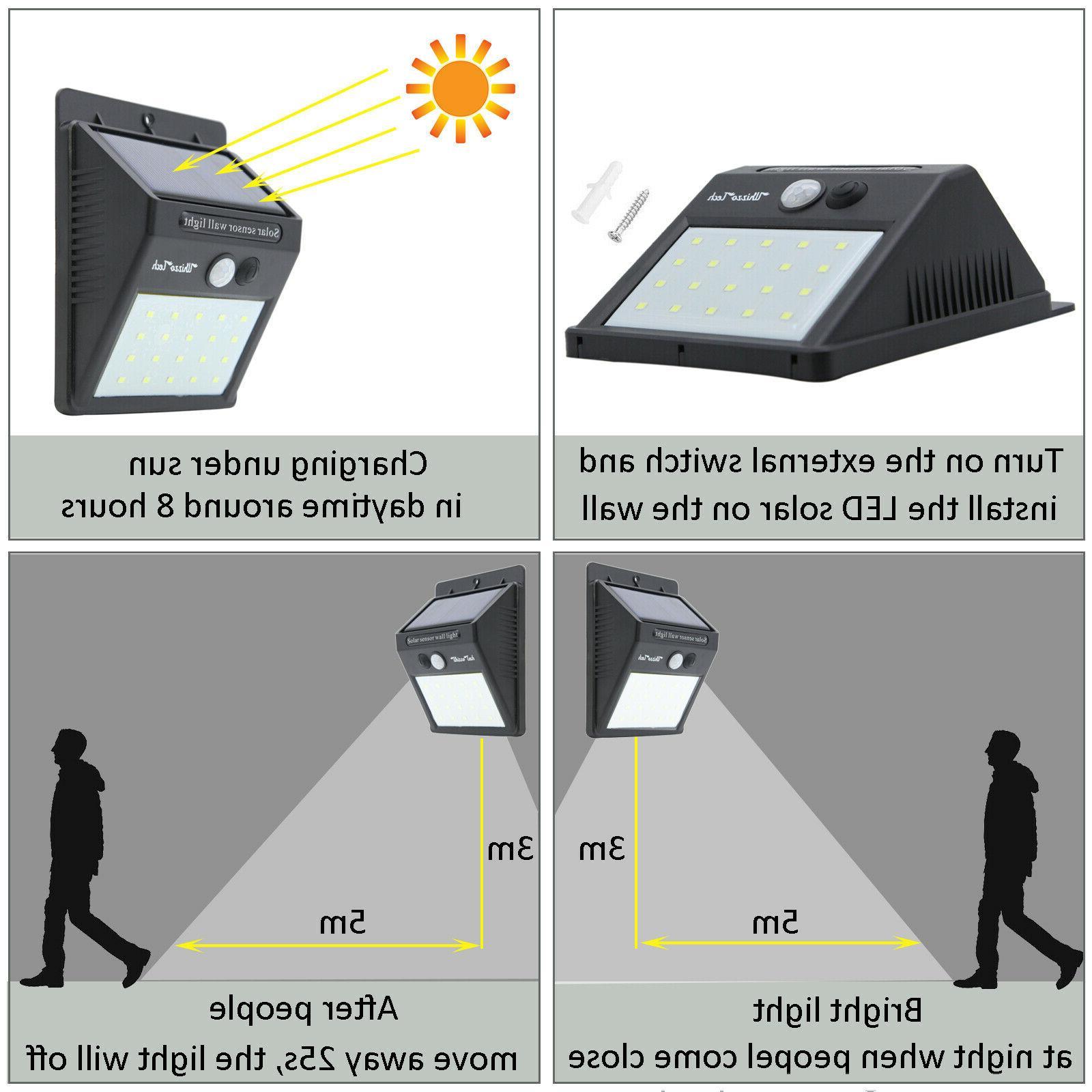 20/34/55LED Solar Motion Waterproof