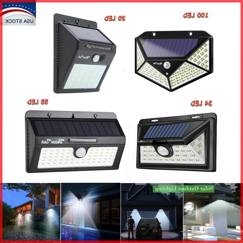 20 34 55led solar lights outdoor motion