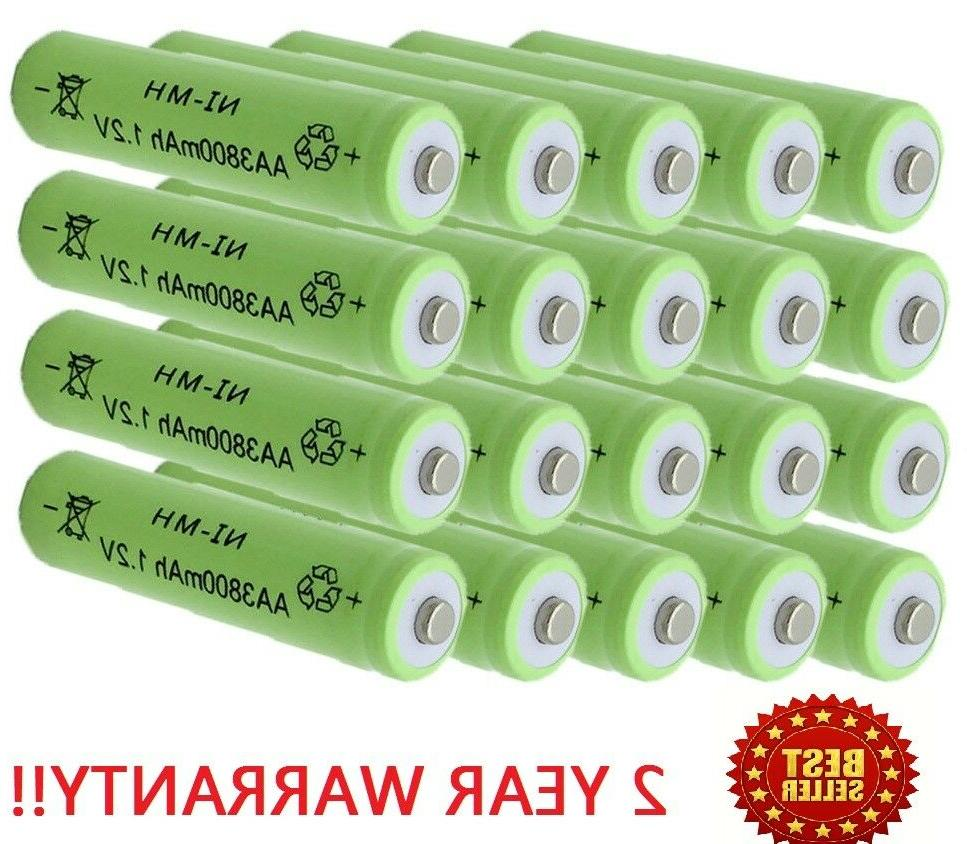 20 aa rechargeable batteries nimh 2000mah 1