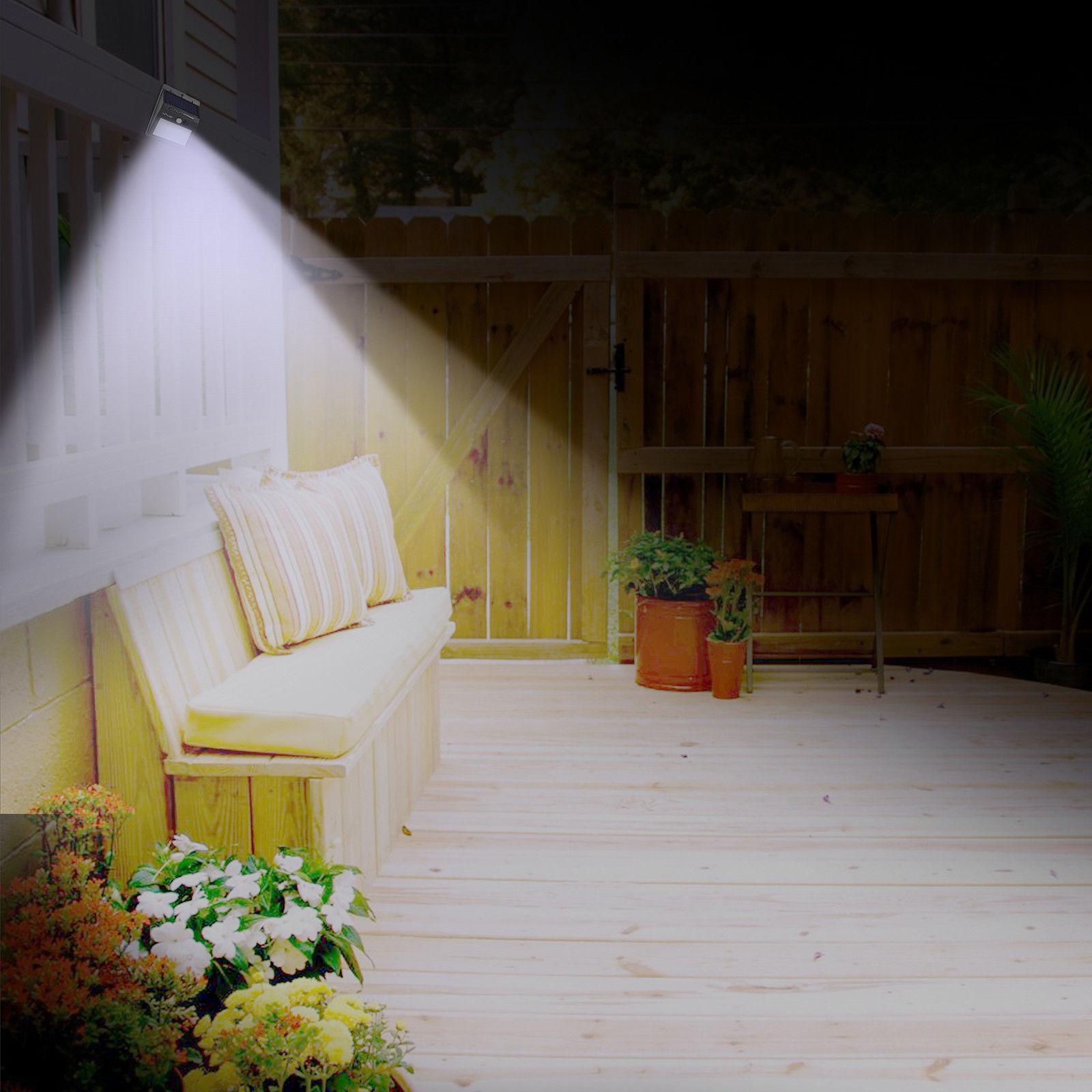 Solar Lights Motion Wall Garden Yard