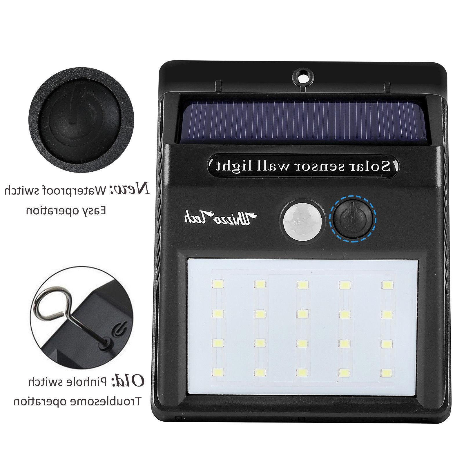 Solar Lights Motion Sensor Wall Light Outdoor Garden Yard LED