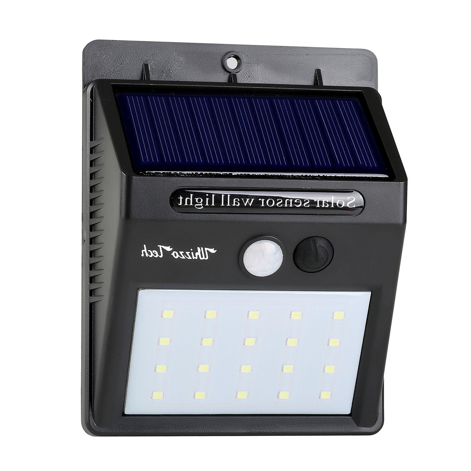 20 Solar Lights Motion Sensor Wall Waterproof