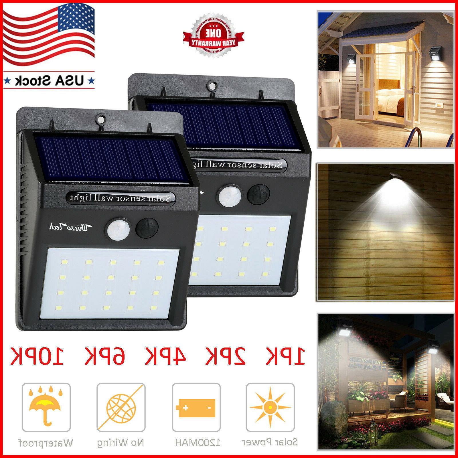 20 led solar lights motion sensor wall