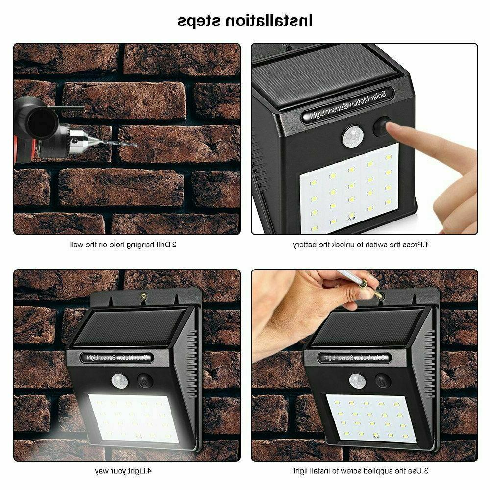 20LED Motion Sensor Wall Outdoor Garden